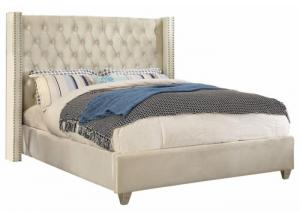 Aiden Cream King Bed
