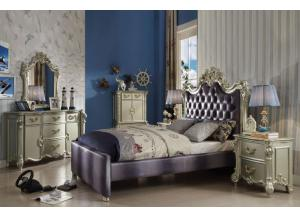 Vendome II Champagne Full Bed, Dresser, Mirror