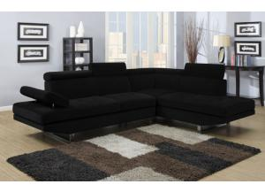 4016 Black Sectional