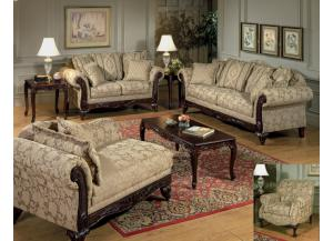 7651 Traditional Sofa & Loveseat