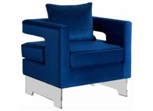 502 Navy Accent Chair