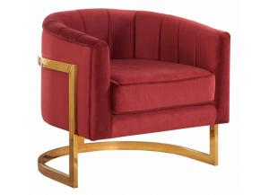 Carter Burgundy Velvet Chair