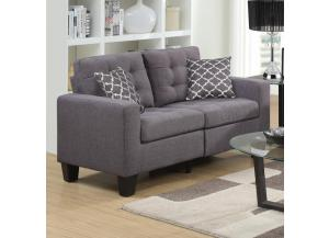 U13379 LOVESEAT GREY