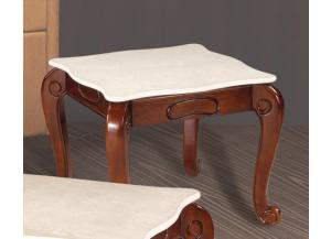 232 Beige Square End Table