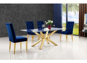 Capri Gold/ Navy 5pc Dinng Set