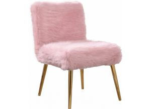 Tiffany Pink Fur Chair