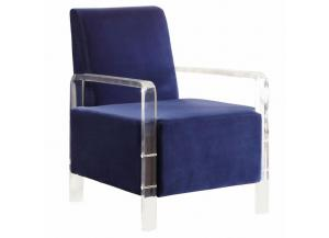 Liam Navy Velvet Accent Chair