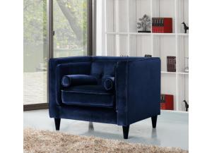 642 Navy Velvet Chair