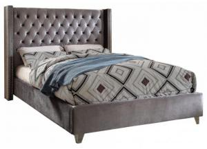 Aiden Grey King Bed