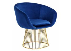 Dylan Navy Velvet Chair