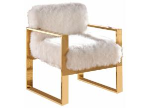 Milo White Fur Chair