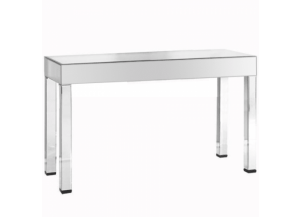 3016 Silver Clear Mirror Console Table