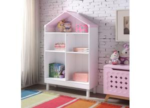 Doll Cottage White/ pink Bookcase
