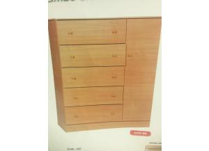 JCF Jumbo Chifforobe With 5 Drawers & 1 Door