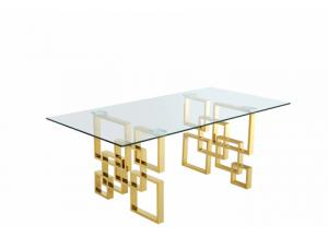 Pierre Gold Dining Table