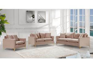 Naomi Pink Sofa & Loveseat