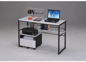 Ellis Black/ white Computer Desk w/ File Cabinet