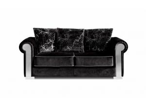 627 Black Velvet Loveseat