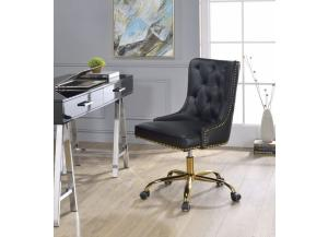 Purlie Black/ Gold Office Chair