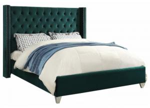 Aiden Green King Bed