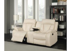 645 Beige Reclining Loveseat