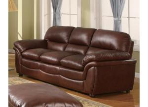 604 Contemporary Brown Sofa