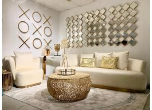 X & O Gold Wall Decor