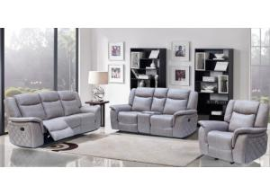 628 Gray Reclining Sofa & Reclining Loveseat