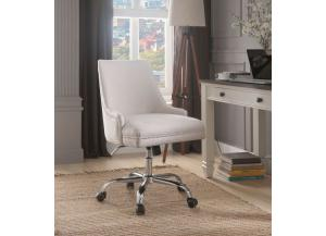 Yuval Beige Linen Office Chair