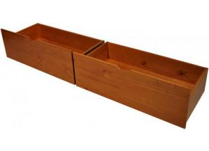 Set of 2 Underbed Drawers Honey Pine