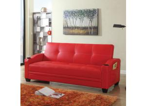 13062 SOFA BED RED