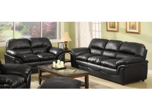 604 Contemporary Black sofa & Loveseat