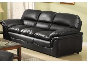 604 Contemporary Black Sofa