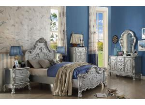 Dresden Silver Queen Bed, Dresser & Mirror