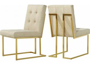 Victoria Beige Linen Dining Chair (pair)