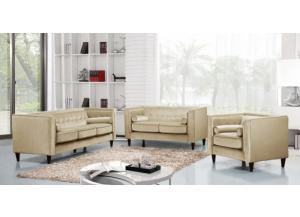 642 Beige Sofa and Loveseat