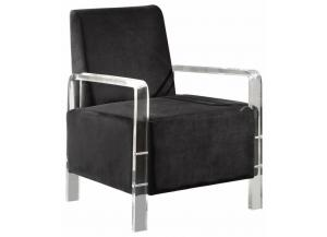 Liam Black Velvet Accent Chair