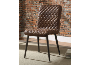 Millerton Top Grain Leather Chair 2pk