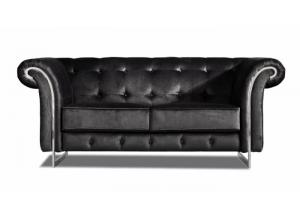 626 Black Velvet Loveseat