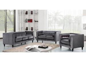 642 Grey Sofa and Loveseat