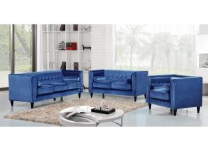 642 Blue Sofa and loveseat