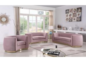 Julian Pink Velvet Sofa & Loveseat