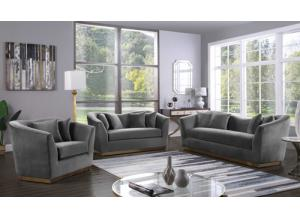 Arabella Grey Velvet Sofa & Loveseat