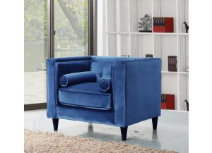 642 Blue Velvet Chair