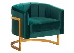 515 Green Velvet Chair