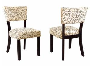 103162 Cappuccino/ Tan Dining Chair (set of 2)