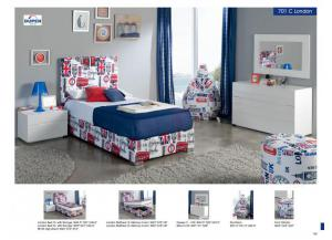 701 London Twin Bed, Dresser, Mirror & Night Stands