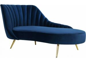 Margo Navy Chaise Lounge