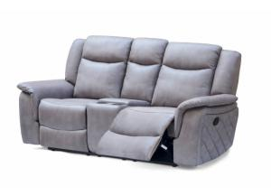 628 Gray Double Reclining Loveseat