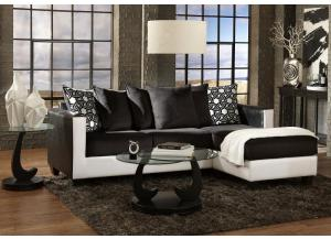3001 Black & White Sectional